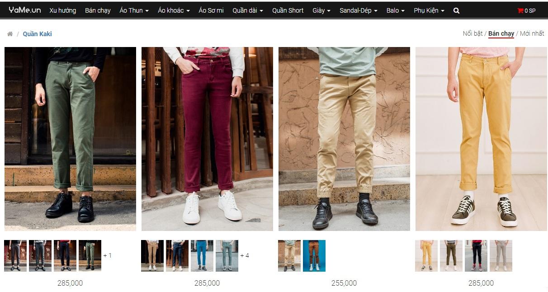 Mê mẩn với top 5 shop bán quần kaki nam giá rẻ đẹp nhất tphcm - 1