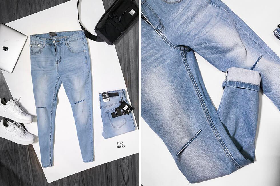 Bán sỉ quần jean nam cao cấp nguồn hàng quần jean giá sỉ - 4